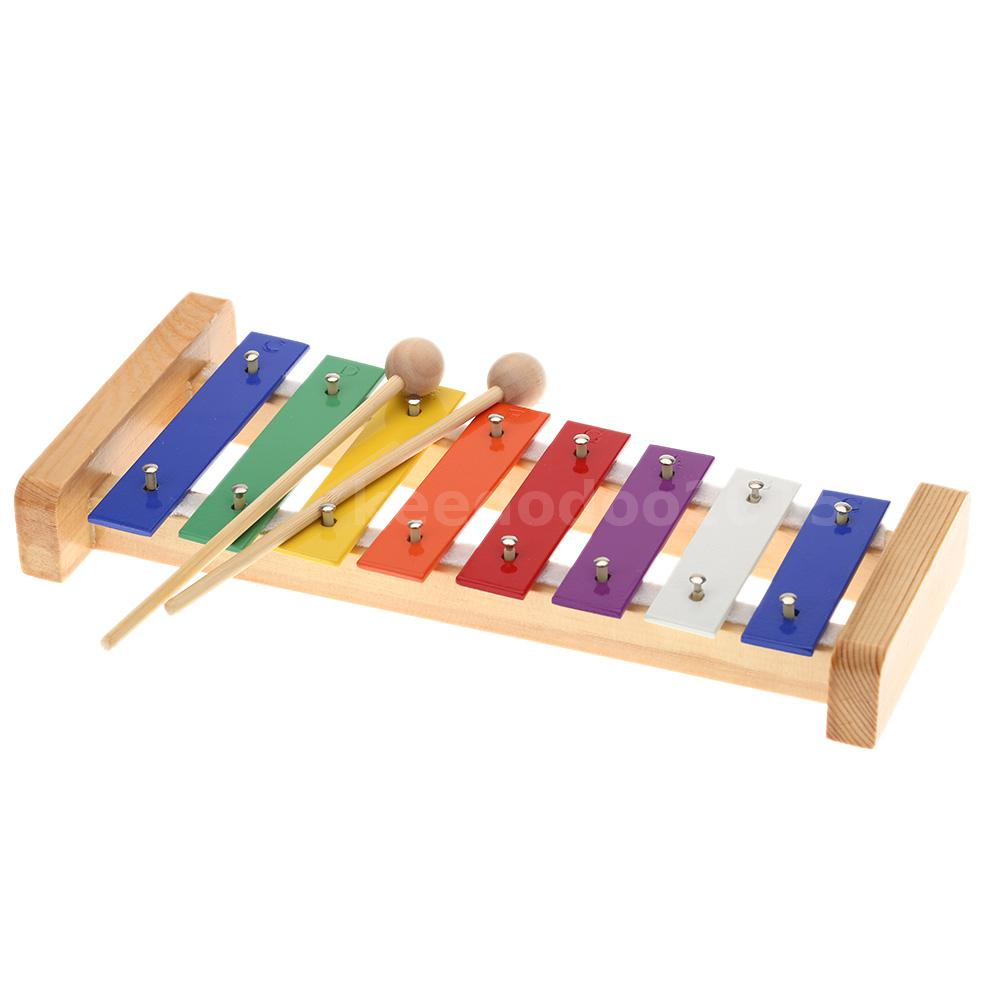 Wooden Rainbow Xylophone Sticks ~ Wood pine xylophone note mm colorful c key percussion