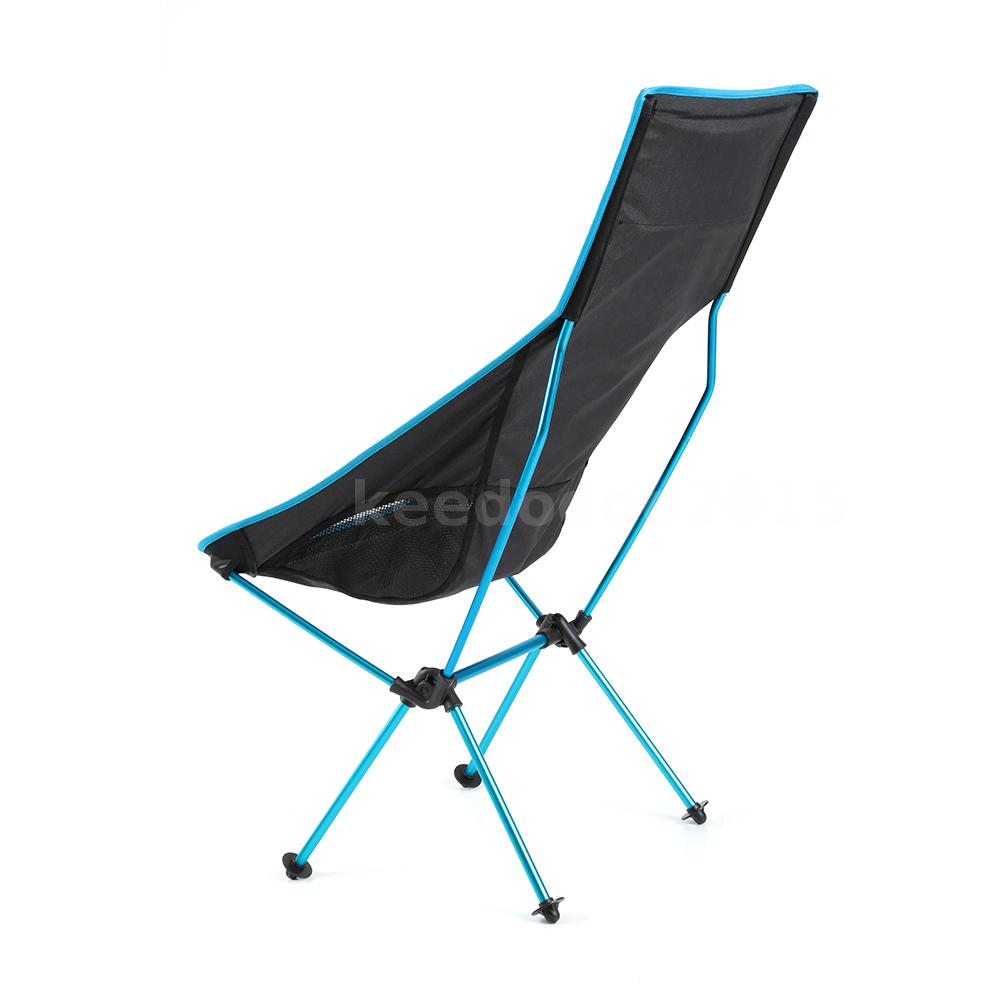 Camping Folding Chair Outdoor Portable High Back Quad Chairs Picnic Sport D5K